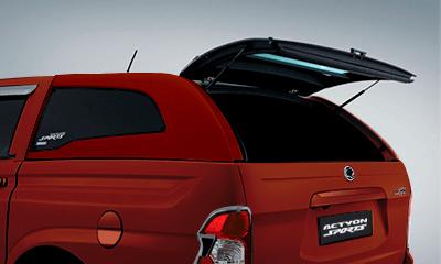 Cúpula roja para camioneta Actyon Sports