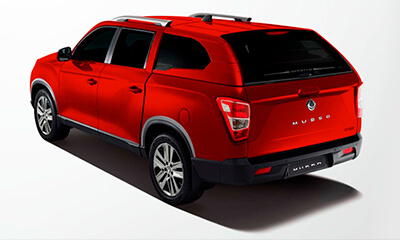 Camioneta Musso Roja SsangYong